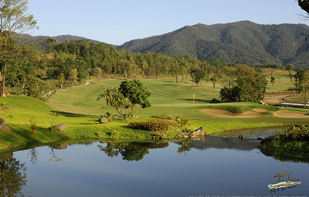 lake and fairway, chiangmai highlands golf resort, chiang mai, thailand
