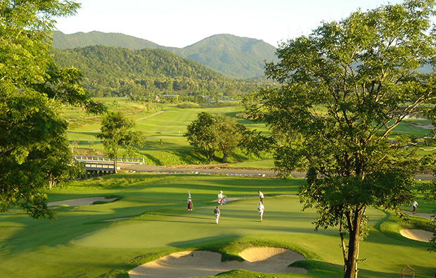 aerial view, chiangmai highlands golf resort, chiang mai, thailand