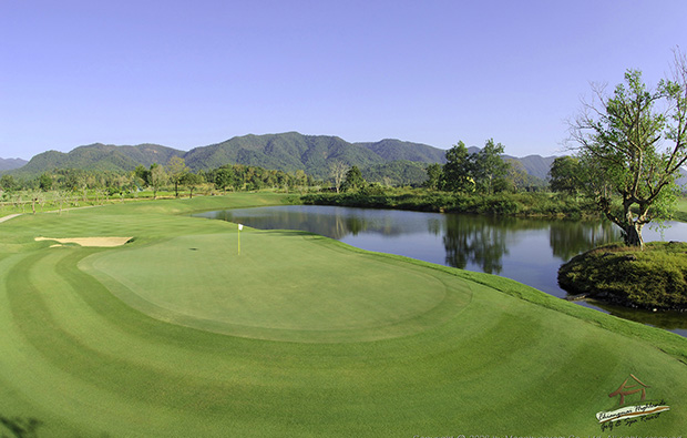 green, chiangmai highlands golf resort, chiang mai, thailand