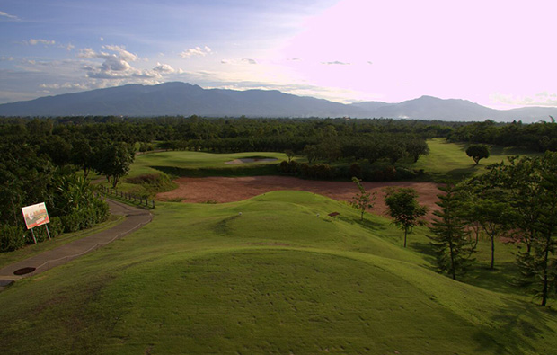 view of mountains, mae jo golf club, chiang mai, thailand