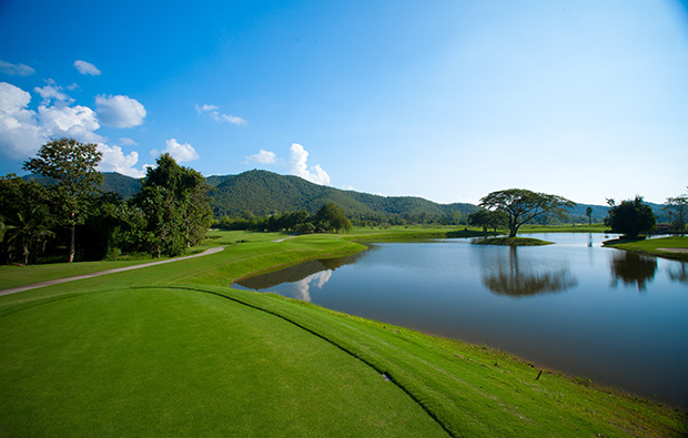 view of mountains, alpine golf club, chiang mai, thailand